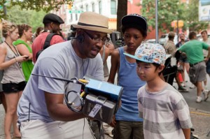 """Ethan Dizon with director George Tillman, Jr. The two worked together in the 2013 film """"The Inevitable Defeat of Mister and Pete,"""" which was produced by Alicia Keyes."""