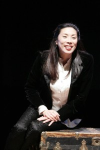 "Jodi Long during a performance of her award-winning one-woman play ""Long Story Short"" in Los Angeles."