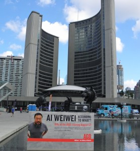 The Art Gallery of Ontario (AGO) will be featuringthe much anticipated exhibit by Chineseartisti/dissident Ai Weiwei, titled Ai Weiwei, According to What? AGO is located in downtown Toronto, just blocks from Chinatown.