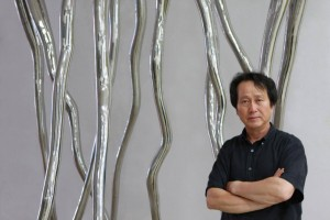 """Korean sculptor Wook Jang Cheung brings his towering works to Las Vegas in the """"Long Journey Home"""" exhibition through October 13. (Artist photo)"""