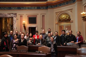 Hmong Cultural Center's EL/Civics class members at the Minnesota State Capitol on Oct. 17, 2013. (Contributed photo)