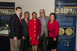 """From Left, Bob Jackson, AARP Texas State Director, retired Maj. Gen. Tony Taguba, Charlene Hunter-James, AARP Texas Executive Council Member, Stephen Menick, Writer and Director of """"Honorable Journey,"""" and Daphne Kwok, AARP Vice President of Multicultural Markets and Engagement. Photo courtesy of Holocaust Museum Houston."""