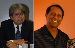 Returning CAPM Board members Adeel Lari, left, and A.S. Liyanapathiranage, right.