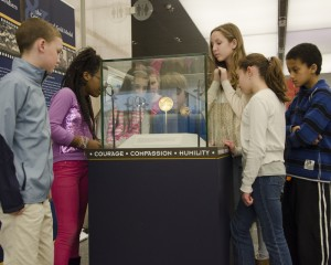 Children attend the Niseil WWII exhibit at The Smithsonian. (Photo by Craig R. Roberts)