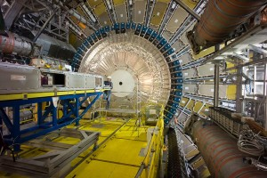 Full view of the open ATLAS Detector in a scene from Particle Fever. (Photos courtesy of CERN)