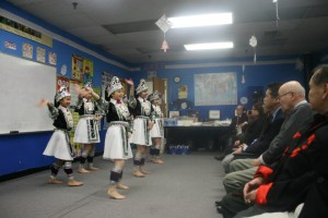 Students of the Hmong Cultural Class perform for guests. (Contributed photo)