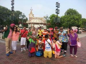 Tarak Mehta Ka Ooltah Chashmah's team at Hong Kong Disneyland.