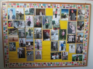 A graduates board for the students that completed the citizenship course at Hmong Cultural Center.