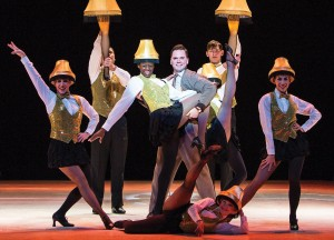 Dieter Bierbrauer and cast in A Christmas Story, the Musical. Photo by Christian Brown