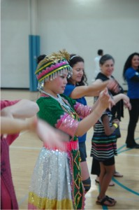Teaching Cultural Dance can be a way to encourage physical exercise and cross-cultural engagement, (Asian Media Access photo).