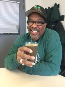 VJ Smith with his special Veggie Juice.