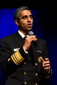 Surgeon General of the United States Dr. Vivek Murthy delivers remarks following the announcement of his appointment as Co-Chair of the White House Initiative on Asian Americans and Pacific Islanders, May 12, 2015. (Photo by Will Kim)
