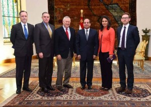 U.S.Rep. Tulsi Gabbard Meets with Egypt President el-Sisi and Other Leaders in Cairo.