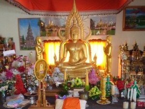 Inside the Warroad Buddhist temple. (Photo by Jay Clark)