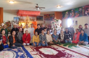 Staff from Lao Assistance Center in Minneapolis were in Warroad, Minn. on March 19-20, 2016, to discuss community issues with the more than 150 Lao, Hmong and Thai residents there at their Buddhist temple. (Photo by Jay Clark)