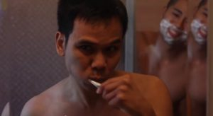 """Sinakhone Keodara, left and Bryan Espino in a scene from """"Where Our World's Meet."""""""