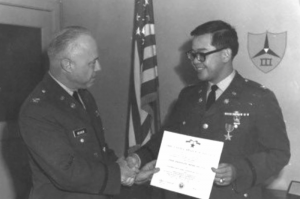 Ed Chow receives the Bronze Star for his service in Vietnam.