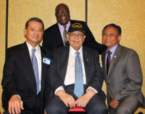 Ed Chow with General Eric Shinseki and Major General Antonio Taguba at an event hosted by OCA.
